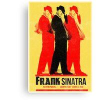 Frank Sinatra Letterpress Poster Canvas Print