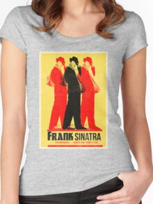 Frank Sinatra Letterpress Poster Women's Fitted Scoop T-Shirt