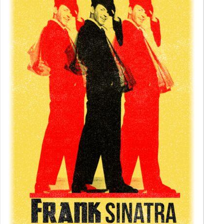 Frank Sinatra Letterpress Poster Sticker