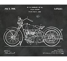 1928 Harley Motorcycle Patent Photographic Print