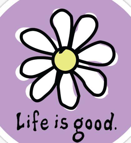Life is Good Light Purple Sticker