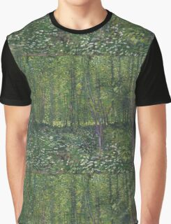 Vincent Van Gogh - Trees and undergrowth, July 1887 - 1887 Graphic T-Shirt