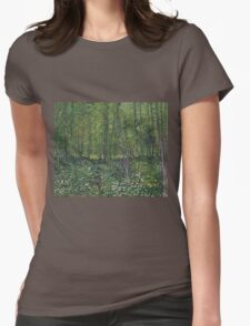 Vincent Van Gogh - Trees and undergrowth, July 1887 - 1887 Womens Fitted T-Shirt