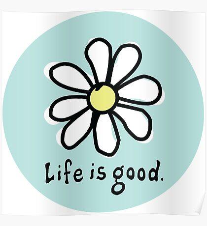 Life is Good Aqua Poster