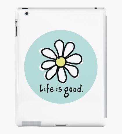 Life is Good Aqua iPad Case/Skin