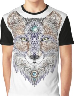 Head wolf wild beast of prey (color) Graphic T-Shirt
