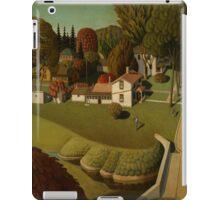 Grant Wood - Birthplace Of Herbert Hoover. Landscape iPad Case/Skin