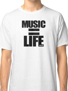 VURSAFIED - MUSIC = LIFE (BLACK) Classic T-Shirt