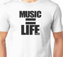 VURSAFIED - MUSIC = LIFE (BLACK) Unisex T-Shirt