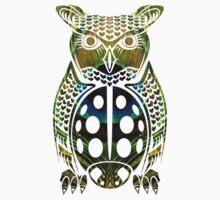 Owl - Peacock - Ladybug Mashup Kids Tee