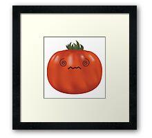 Confused Heirloom Tomato Framed Print