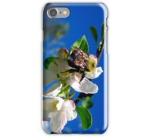 blue skies and a bee 2 iPhone Case/Skin