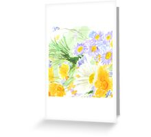 cheerful colorful wild flower  Greeting Card