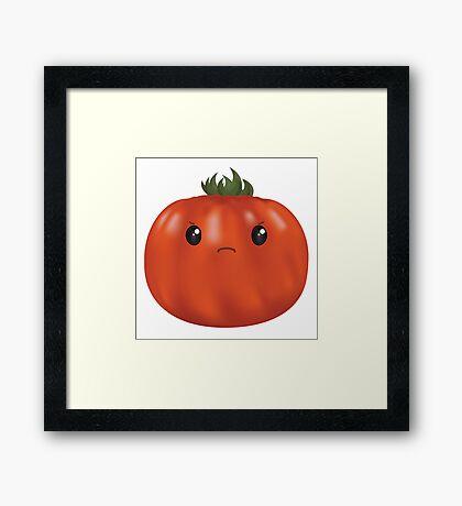 Grumpy Heirloom Tomato Framed Print