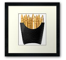 Bullet Fries Framed Print