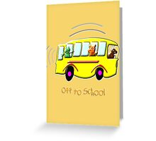 Off to School drawstring bag, etc. design Greeting Card