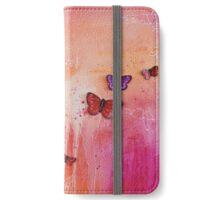 Spring butterflies - square iPhone Wallet/Case/Skin