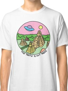 Mayan alien x-files scully mulder ufo pyramid egyptian pastel 90s tv Classic T-Shirt