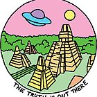 Mayan alien x-files scully mulder ufo pyramid egyptian pastel 90s tv by Big Kidult