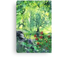 Lilies In The Wood Canvas Print