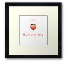 Peach (emoji) Schnapps Framed Print