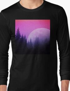 Cosmic Forest & Moon Long Sleeve T-Shirt