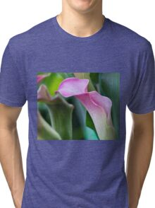 calla lily in the garden Tri-blend T-Shirt