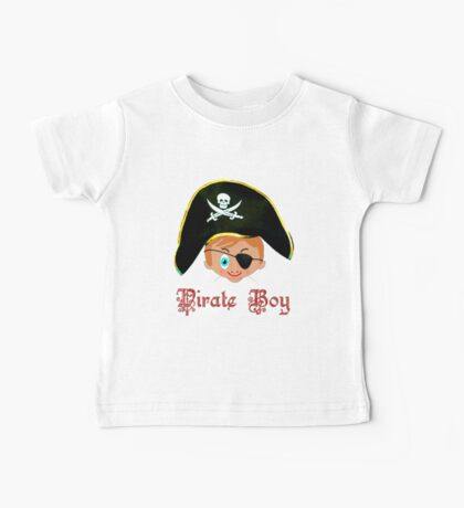 Toon Boy 14 Pirate Boy T-shirt design Baby Tee