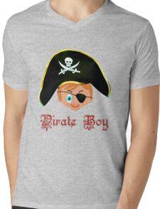 Toon Boy 14 Pirate Boy T-shirt design Mens V-Neck T-Shirt