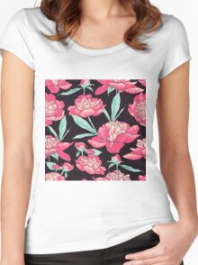 peonies  Women's Fitted Scoop T-Shirt
