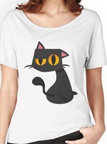 Sharp Black Cat Women's Relaxed Fit T-Shirt