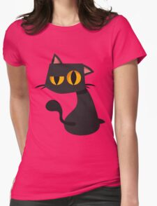 Sharp Black Cat Womens Fitted T-Shirt