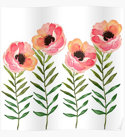 Watercolor Flower Poster