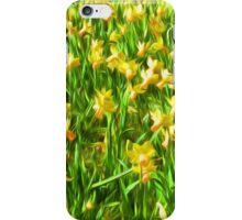 Daffodil Field ( Painting ) iPhone Case/Skin