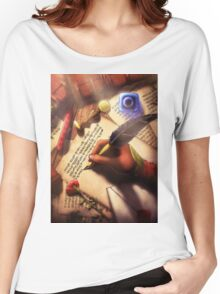 The Writer (Digital Illustration) Women's Relaxed Fit T-Shirt