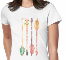 Watercolor Arrows Womens Fitted T-Shirt