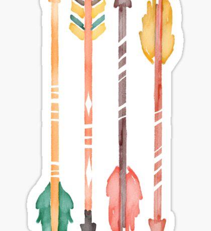 Watercolor Arrows Sticker
