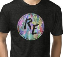 Rough Edit Splatter Logo Tri-blend T-Shirt