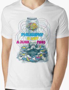 Philosophy is not a junk food Mens V-Neck T-Shirt