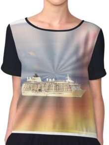 Let's go on a cruise Chiffon Top