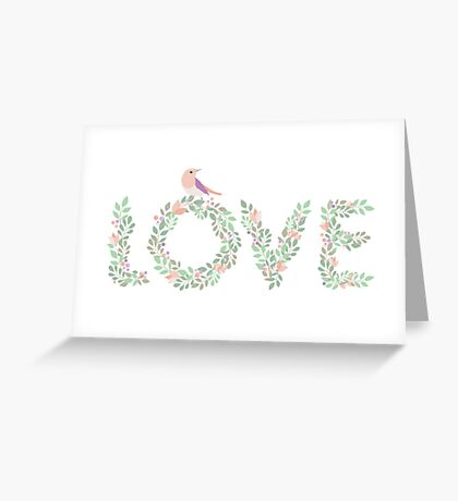 Floral Love Bird Greeting Card