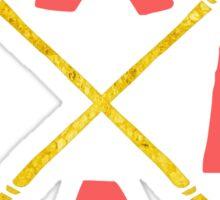 Golden Xmas Arrows Sticker