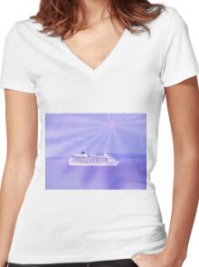 Let's go on a Cruise Women's Fitted V-Neck T-Shirt