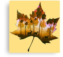 Forest Leaf Yellow Canvas Print