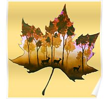 Forest Leaf Yellow Poster