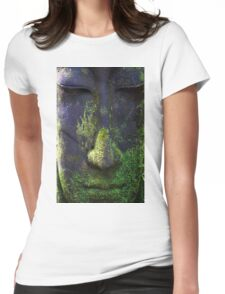 Zen Buddha Womens Fitted T-Shirt