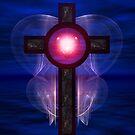 Sacred Heart Cross Wings Of Glory by xzendor7