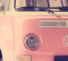 Pink VW camper van Sticker