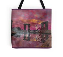 TEMPLE OF WATER /HYPERION WORLD ,Sci-Fi Movie Tote Bag