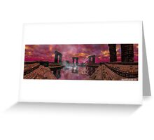 TEMPLE OF WATER /HYPERION WORLD ,Sci-Fi Movie Greeting Card